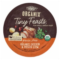 Castor and Pollux Dog - Organic - Tiny Feasts - Chicken - Case of 12 - 3.5 oz - Case of 12 - 3.5 OZ each