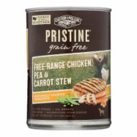 Castor & Pollux Dog Food, Prstine Grain-Free-Range Chicken,Pea,Carrot Stew -12Case-12.7oz - Case of 12 - 12.7 OZ each