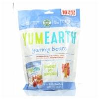 Yummy Earth Organics Gummy Bears - Organic - Snack Pack - .7 oz - 10 Count - Case of 12 - Case of 12 -10/.7 OZ each