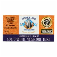 Henry and Lisa's Natural Seafood Solid White Albacore Tuna - Case of 12 - 5 oz. - Case of 12 - 5 OZ each
