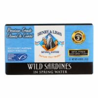 Henry and Lisa's Natural Seafood Wild Sardines in Spring Water - Case of 12 - 4.25 oz. - Case of 12 - 4.25 OZ each