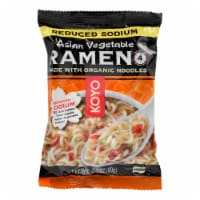 Koyo Asian Vegetable Reduced Sodium Ramen - Case of 12 - 2.1 OZ - Case of 12 - 2.1 OZ each