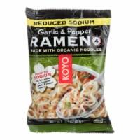 Koyo Garlic Pepper Reduced Sodium Ramen - Case of 12 - 2.1 OZ - Case of 12 - 2.1 OZ each
