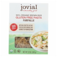 Jovial - Gluten Free Brown Rice Pasta - Farfalle - Case of 12 - 12 oz. - Case of 12 - 12 OZ each