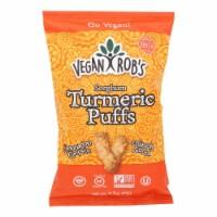 Vegan Rob's - Puffs Turmeric - Case of 12 - 3.5 OZ - Case of 12 - 3.5 OZ each