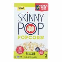Skinnypop Popcorn - Popcorn Micro Sea Salt 3pk - Case of 12 - 3/2.8 OZ - Case of 12 - 3/2.8 OZeach