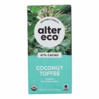 Alter Eco Americas Organic Chocolate Bar - Dark Coconut Toffee - 2.82 oz Bars - Case of 12 - Case of 12 - 2.82 OZ each