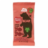 This Bear Real Fruit Strawberry Yoyos Fruit Roll  - Case of 12 - .7 OZ - Case of 12 - .7 OZ each