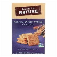 Back To Nature Harvest Whole Wheat Crackers-Whole Wheat Safflower Oil, Sea Salt-12PACK -8.5oz - Case of 12 - 8.5 OZ each