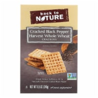 Back To Nature Crackers - Whole Wheat Black Pepper - Case of 12 - 8.5 oz - Case of 12 - 8.5 OZ each