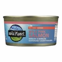 Wild Planet Wild Alaskan Pink Salmon - No Salt Added - Case of 12 - 6 oz. - Case of 12 - 6 OZ each