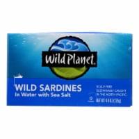 Wild Planet Wild Sardines In Spring Water - Case of 12 - 4.375 oz. - Case of 12 - 4.4 OZ each