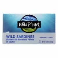 Wild Planet Wild Sardines - Skinless & Boneless Fillets in Water - Case of 12 - 4.25 oz - Case of 12 - 4.25 OZ each