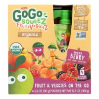 Gogo Squeez Bolder Berry Organic Fruit & Veggiez On The Go - Case of 12 - 4/3.2 OZ - Case of 12 - 4/3.2 OZeach
