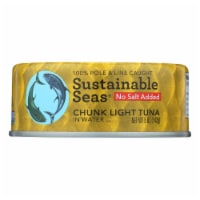 Sustainable Seas Chunk Light Tuna In Water - Case of 12 - 5 OZ - Case of 12 - 5 OZ each