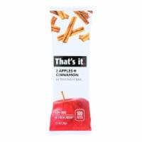 That's It Fruit Bar Zesty - Apple Cinnamon - Case of 12 - 1.2 oz. - Case of 12 - 1.2 OZ each