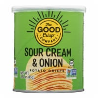 The Good Crisp Company Potato Crisps - Sour Cream and Onion - Case of 12 - 1.6 oz - Case of 12 - 1.6 OZ each