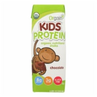 Orgain Organic Nutrition Shake - Chocolate Kids - 8.25 fl oz - Case of 12 - Case of 12 - 8.25 FZ each