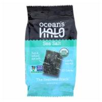 Ocean's Halo Seaweed, Sea Salt Snack  - Case of 12 - .14 OZ - Case of 12 - .14 OZ each