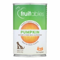 Fruitables - Pet Puree Pumpkin Can - Case of 12 - 15 OZ - Case of 12 - 15 OZ each