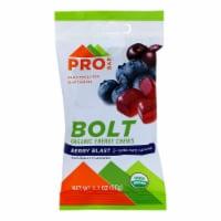 Probar Bolt Energy Chews - Organic Berry Blast - 2.1 oz - Case of 12 - Case of 12 - 2.1 OZ each