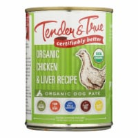 Tender & True Dog Food Chicken And Liver - Case of 12 - 12.5 OZ - Case of 12 - 12.5 OZ each