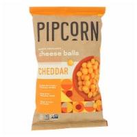 Pipcorn - Cheese Balls Cheddar - Case of 12 - 4.5 OZ