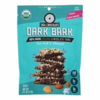 Taza Chocolate Organic Dark Bark Chocolate - Sea Salt Almond - Case of 12 - 4.2 oz - Case of 12 - 4.2 OZ each