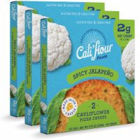 Cali'flour Foods  Tradtional Spicy Jalapeño Pizza Crust - 3-Pack