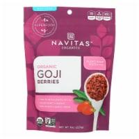 Navitas Naturals Goji Berries - Organic - Sun-Dried - 8 oz - case of 12 - Case of 12 - 8 OZ each