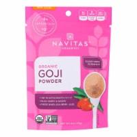 Navitas Naturals Goji Berry Powder - Organic - Freeze-Dried - 4 oz - case of 12 - Case of 12 - 4 OZ each