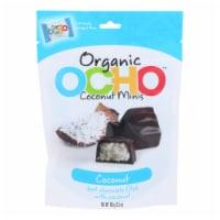 Ocho Candy - Organic Coconut Mini Bars - In Dark Chocolate - Case of 12 - 3.5 oz - Case of 12 - 3.5 OZ each