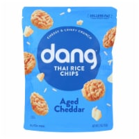 Dang - Sticky Rice Chips - Aged Cheddar - Case of 12 - 3.5 oz. - Case of 12 - 3.5 OZ each