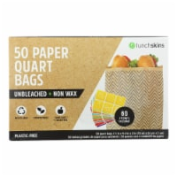 Lunchskins - Paper Bag Quart Cheveron - Case of 12 - 50 CT - Case of 12 - 50 CT each
