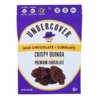 Undercover Quinoa - Crispy Quin Milk Chocolate Curra - Case of 12 - 2 OZ - Case of 12 - 2 OZ each