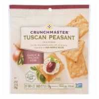 Crunchmaster Crackers - Tuscan Peasant Garlic and Italian Herb - Case of 12 - 3.54 oz. - Case of 12 - 3.54 OZ each