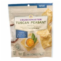 Crunchmaster Crackers - Tuscan Peasant Simply Olive Oil and Sea Salt - Case of 12 - 3.54 oz. - Case of 12 - 3.54 OZ each