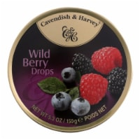 Cavendish and Harvey Fruit Drops Tin - Wild Berry - 5.3 oz - Case of 12 - Case of 12 - 5.3 OZ each