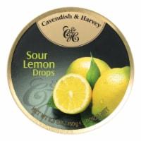 Cavendish and Harvey Fruit Drops Tin - Sour Lemon - 5.3 oz - Case of 12 - Case of 12 - 5.3 OZ each