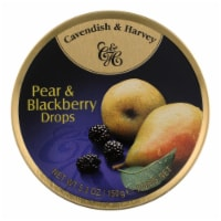 Cavendish and Harvey Fruit Drops Tin - Pear and Blackberry - 5.3 oz - Case of 12 - Case of 12 - 5.3 OZ each