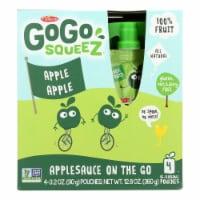 GoGo Squeeze Organic Applesauce - Apple - Case of 12 - 3.2 oz. - Case of 12 -4/3.2 OZ each