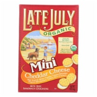 Late July Snacks Sandwich Crackers - Cheddar Cheese - Case of 12 - 5 oz. - Case of 12 - 5 OZ each