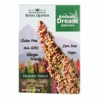 Andean Dream Gluten Free Organic Shells Quinoa Pasta - Case of 12 - 8 oz.