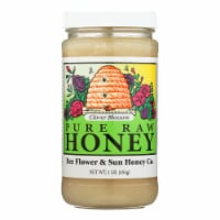 Bee Flower and Sun Honey - Clover Blossom - Case of 12 lbs - Case of 12 - 1 LB each
