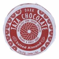 Taza Organic Chocolate Mexicano Discs - 40 Percent Dark - Salted Almond - 2.7 oz - 12Case - Case of 12 - 2.7 OZ each
