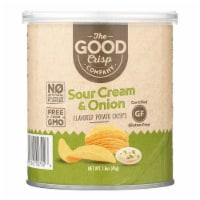 The Good Crisp Company Potato Crisps - Sour Cream and Onion - Case of 12 - 1.6 oz - 1.6 OZ