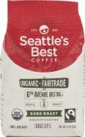 Seattle's Best Coffee  Organic Ground Coffee Dark Roast   6th Avenue Bistro - 12 oz Each / Pack of 6