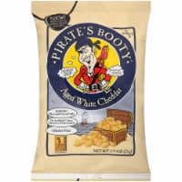 Pirates Booty Aged White Cheddar Cheese Puffs, 0.75 Ounce -- 24 per case.