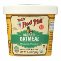 Bob's Red Mill - Oatmeal Cup - Organic Pineapple Coconut - Gluten Free - Case of 12 - 2.43 oz