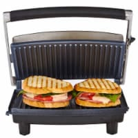 Continental 2-Slice Non-Stick Panini Grill Black